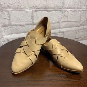 Lucky Brand Preekah Shoes Sz 6.5 Nude/tan Leather